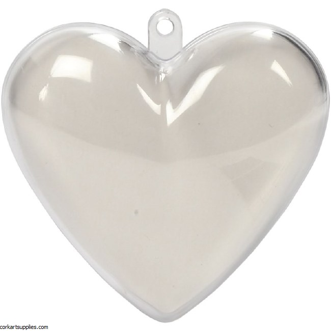 Bauble Plastic Heart 65mm