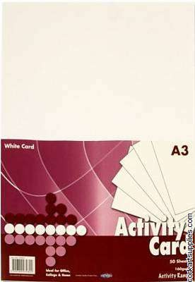 A3 Card 160gm White 50pk