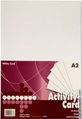 A2 Card White 160g 25pk