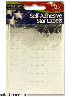 Stars Metallic Slv 13mm 135pk
