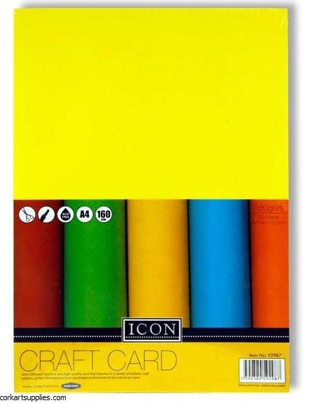 A4 Card 160gm Asst Icon 50pk