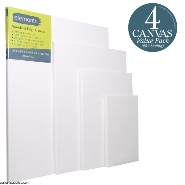 Canvas Slim Elements 4pk (1 of each 12x8,16x12,20x16 & 24x20