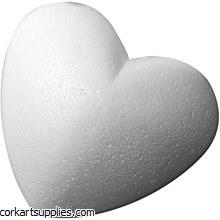 Polystyrene Heart 150mm 6