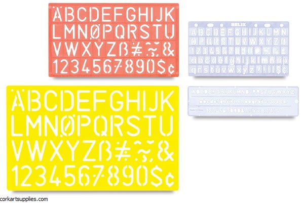 Stencil Letters Guides 4pk