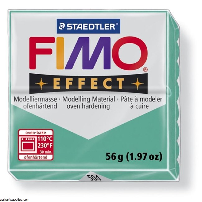 Fimo 57gm Effect Transparent Green