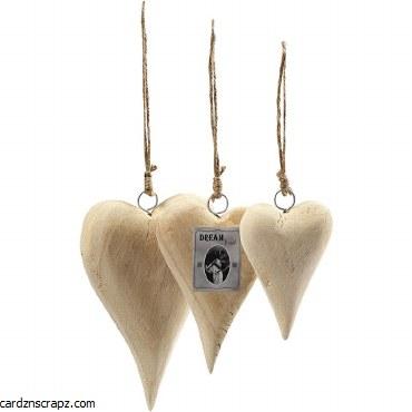 Wooden Heart 12cm w/String