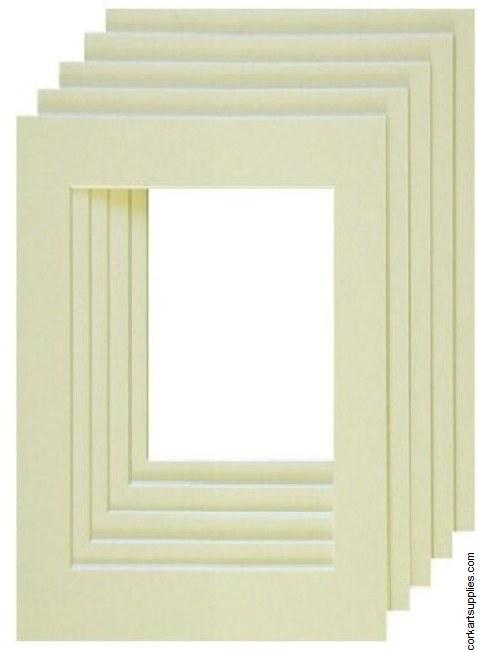 """Mounts 7x9½"""" Ivory (outside 18x24, inside 10x15cm)"""