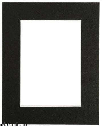 """Mounts 7x9½"""" Black (outside 18x24, inside 10x15cm)"""