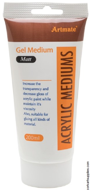Acrylic Gel Medium 200ml Mat