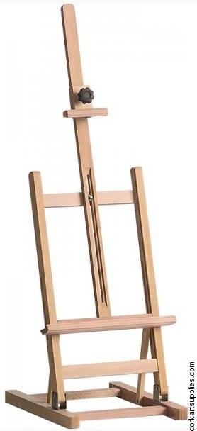 Easel Table Beech Foldable