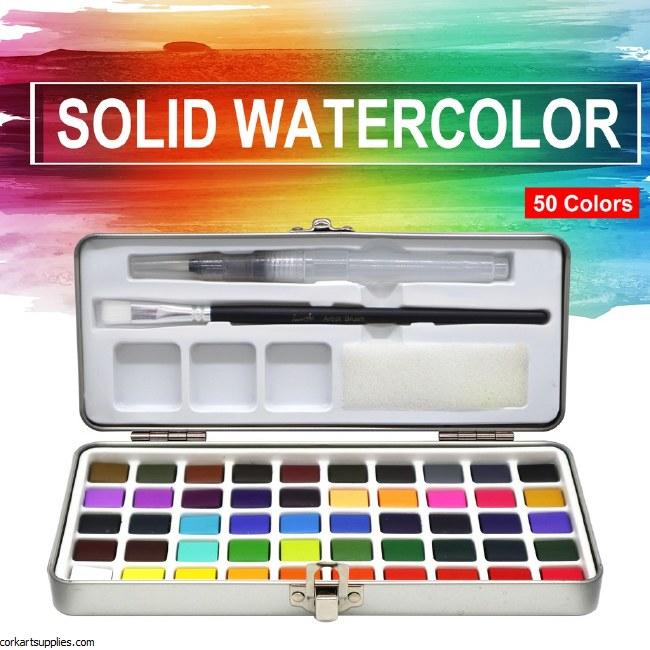 Watercolour Tin Set 50pk