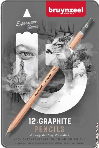 Bruynzeel Graphite Pencil 12pk