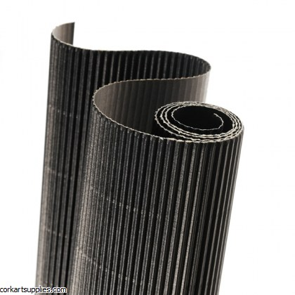 Corrugated Roll 50x70cm Black