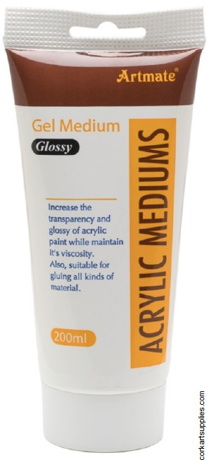 Acrylic Gel Medium 200ml Gloss