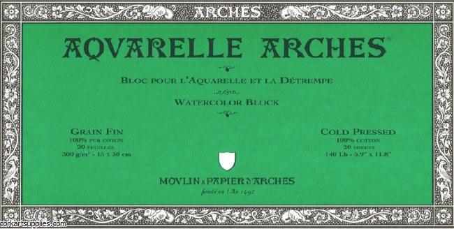 Arches Block 140lb Not 15x30cm/6x12