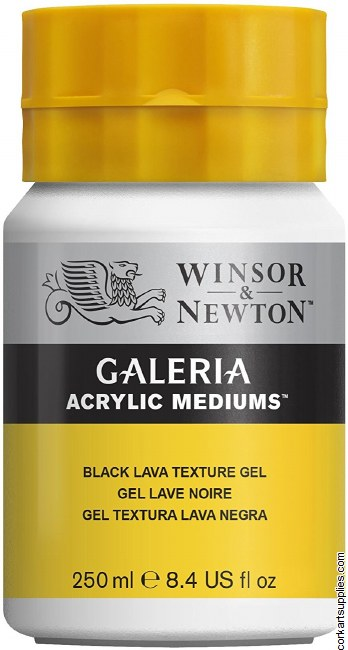 Galeria 250ml Black Lava Texture Gel