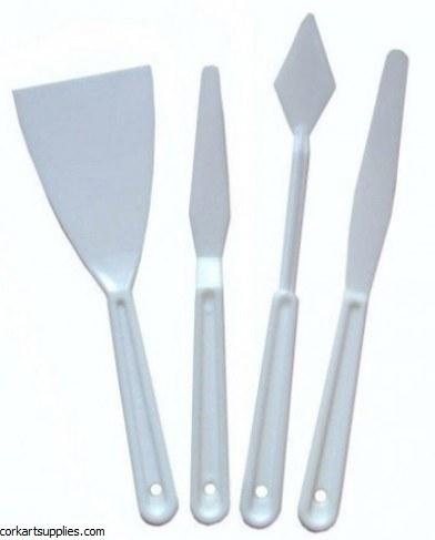 Palette Knife Plastic Asst 4pk