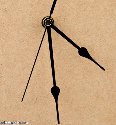 Clock Hands Black 110mm 3pk