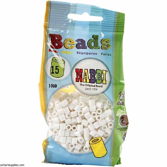 Fuse Beads 5mm 1100pk White