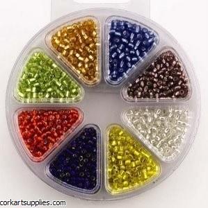 Beads Wheel Glass 8 Assorted