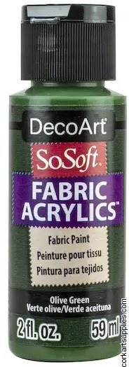 DecoArt SoSoft 59ml Olive Green