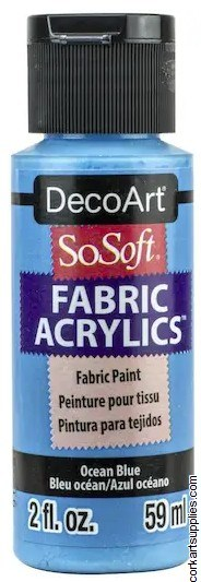 DecoArt SoSoft 59ml Blue Ocean