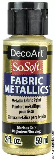 DecoArt SoSoft 59ml Metallic Glorious Gold