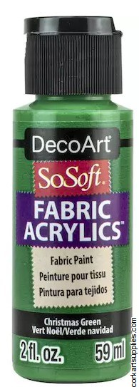 DecoArt SoSoft 59ml Green Xmas