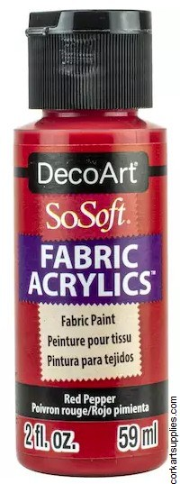 DecoArt SoSoft 59ml Red Pepper