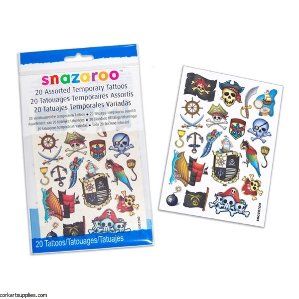 Snazaroo Temp Tattoos B 20pk