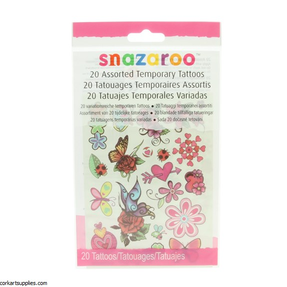 Snazaroo Temp Tattoos G 20pk