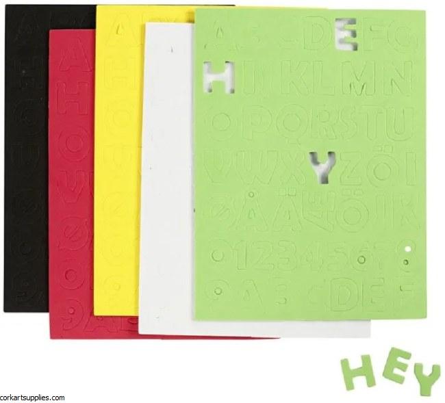 Foam Sticky Letter & Nos 255pk