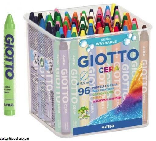Giotto Wax Crayons 96pk