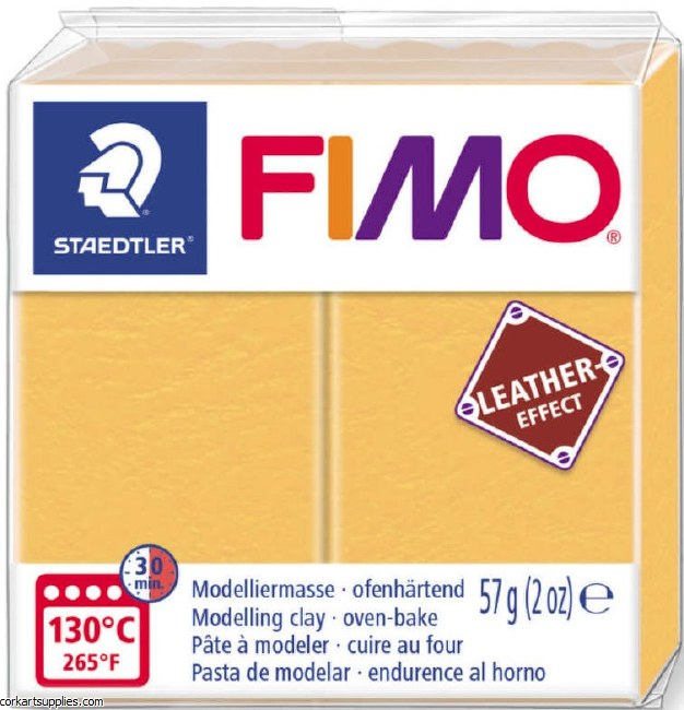 Fimo 57gm Leather Saff Yellow