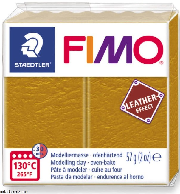 Fimo 57gm Leather Ochre