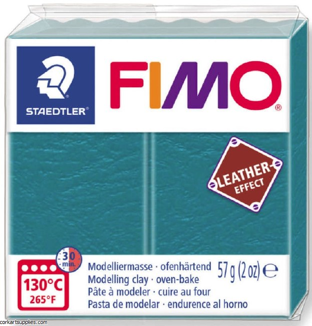 Fimo 57gm Leather Loogan Turqu