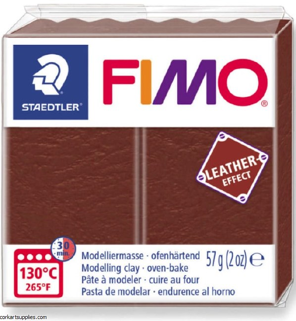 Fimo 57gm Leather Nut Brown