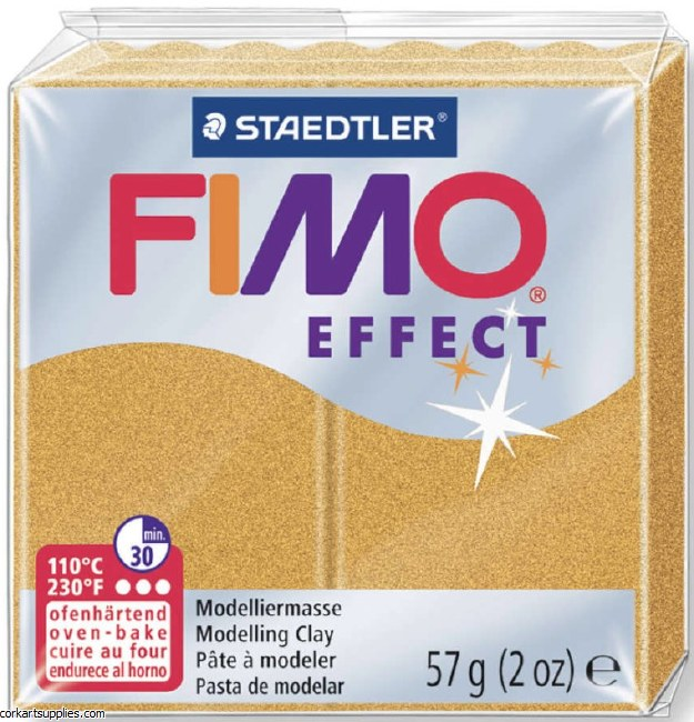 Fimo 57gm Effect Metallic Gold