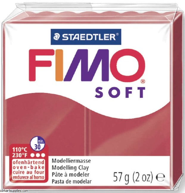 FIMO Soft 57g 8020-26 cherry red