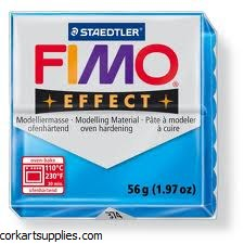 Fimo 57gm Effect Transparent Blue
