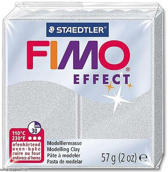 Fimo 57gm Effect Metallic Silver^