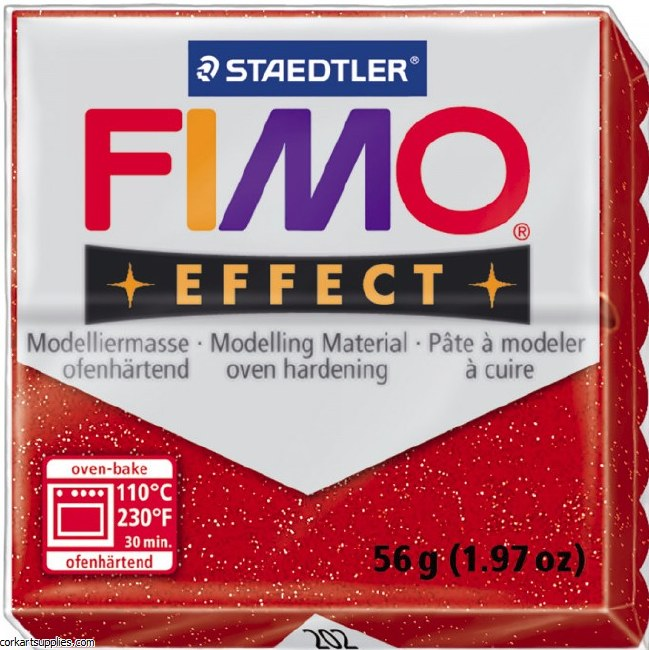 Fimo 57gm Effect Glitter Red
