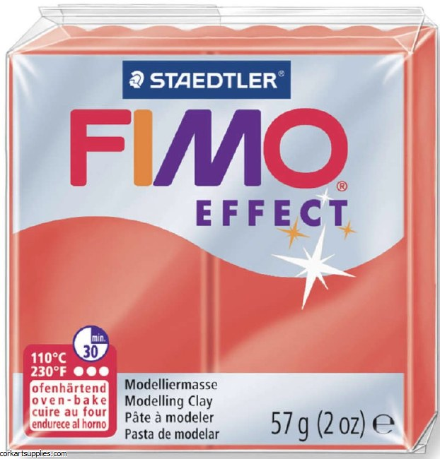 Fimo 58gm Effect Transparent Red