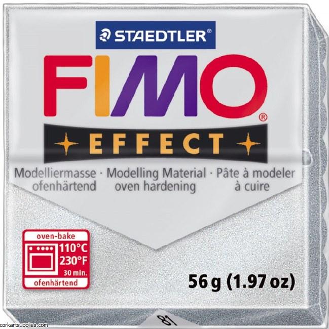 Fimo 57gm Effect Glitter Silver