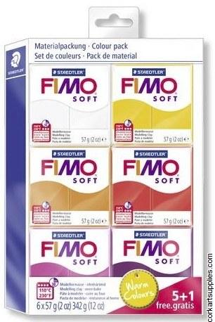 Fimo Soft Set 57gm Warm 6pk