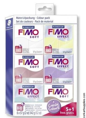 Fimo Soft Set 57gm Candy 6pk