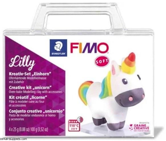 Fimo Set 25gm Unicorn 4pk^