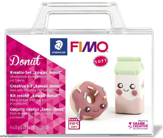 Fimo Set 25gm Donut 4pk^