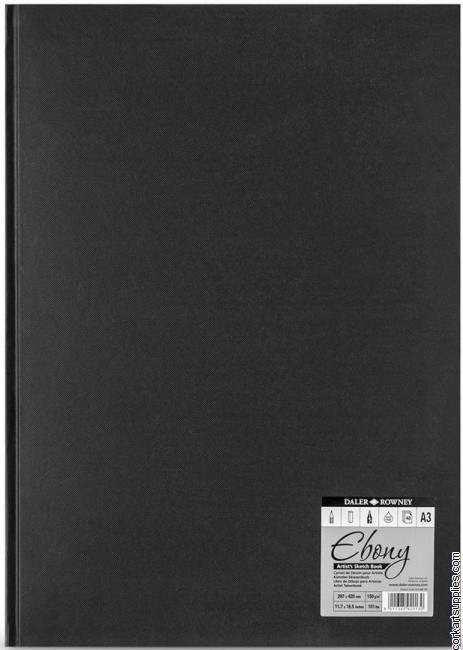 Daler Ebony Hardback A3 Portrait 150gm Cartridge