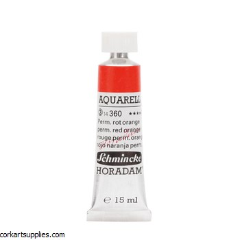 Horadam Aquarell 15ml Permanent red orange